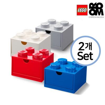 [레고스토리지]레고 책상용 미니4구서랍형 2개세트