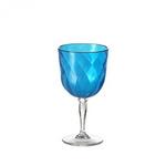 다이아몬드 와인잔 블루 1P