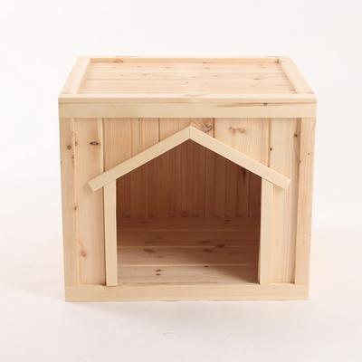 원목 강아지집 박스타입 C 중형 (무도장)
