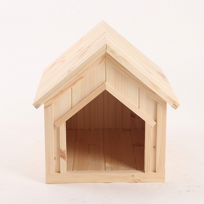 원목 강아지집 하우스타입 A 중형 (무도장)