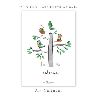 2019 달력 - 27_Cute Hand Drawn Animals