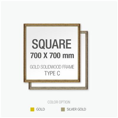 골드 원목 프레임 액자 Type C - 정사각형 70X70