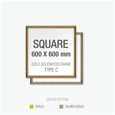 골드 원목 프레임 액자 Type C - 정사각형 60X60