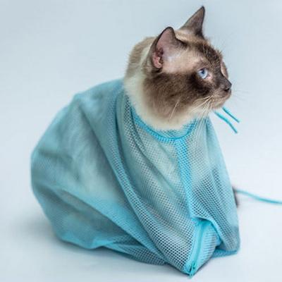 레오프렌즈 고양이 샤워망 목욕망 그루밍백