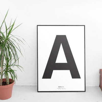 데이앤코-alphabet poster