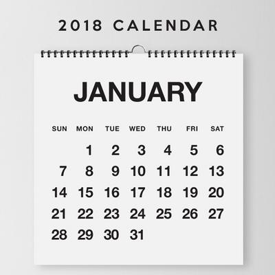 [데이앤코] 2018년 달력 - 깔끔한 달력