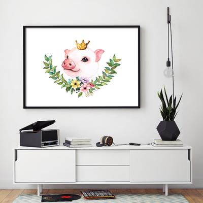 황금꽃돼지그림 포스터 돈들어오는그림 액자 포함