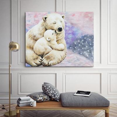 북극곰 인테리어 동물 아이방 캔버스 그림액자