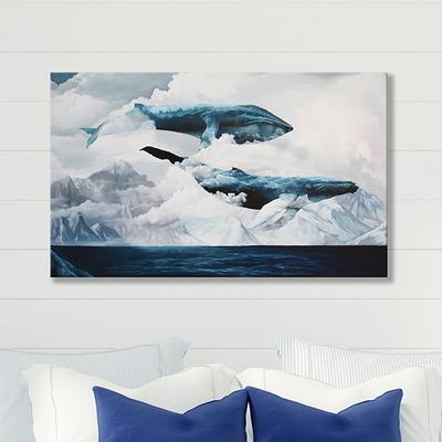 하늘고래 인테리어 캔버스 그림액자