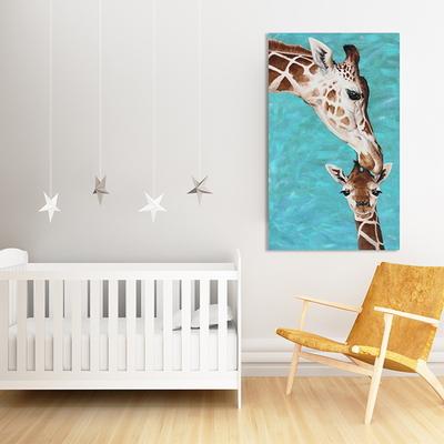 행복한 기린 아이에게 좋은 인테리어 동물 그림 풍수지리 캔버스 그림액자