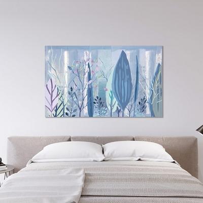 파란숲 일러스트 풍경화 캔버스 그림액자