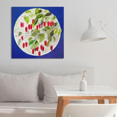 보리수열매 한국화 인테리어 캔버스 그림액자