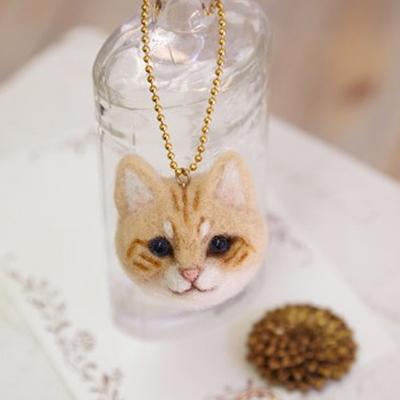 하마나카 노란 치즈 고양이 얼굴 DIY KIT