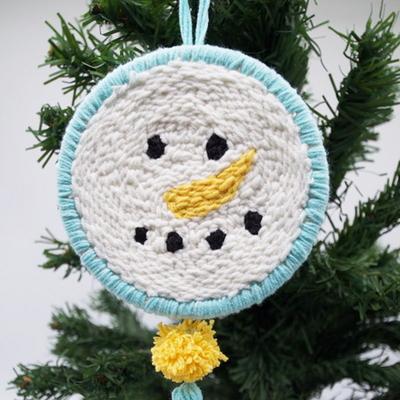 눈사람 크리스마스 펀치니들 키트