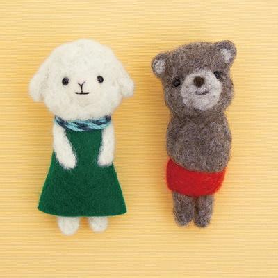 하마나카 니들펠트 양과 불곰 브로치 DIY KIT