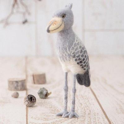 하마나카 니들펠트 양모 넓적부리황새 DIY