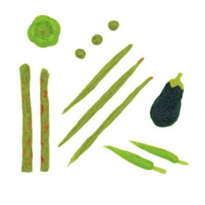 하마나카 니들펠트 아크레루 녹색채소 DIY KIT