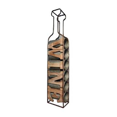 [엔틱플러스] 인더스트리얼 철제 와인거치대 6구