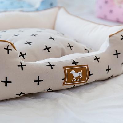 조우니 강아지 마약방석 크로스 사각 (XL)
