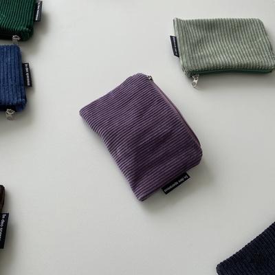 바이올렛 골덴 파우치(Violet corduroy pouch)