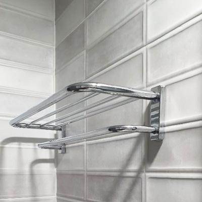욕실 2단수건선반 수건걸이선반 욕실벽선반
