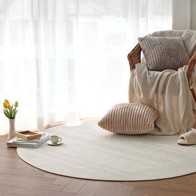 로망스 물세탁 사계절 심플 단모 거실 침실 원형 러그 150R