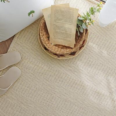 물세탁 내츄럴 쟈가드 헤링본 사계절 러그 200x270 - 3color