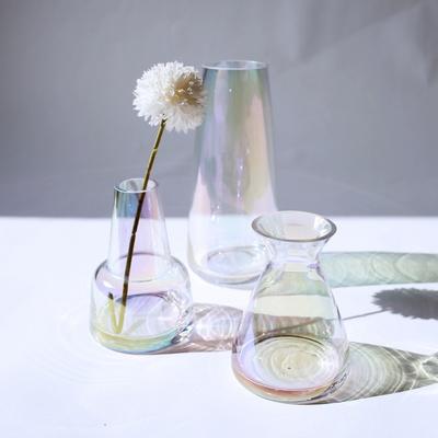 홀로그램 오로라 오팔 유리 화병 인테리어 미니꽃병