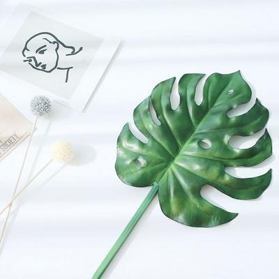 중대형 몬스테라잎 조화 트로피칼 인테리어 소품