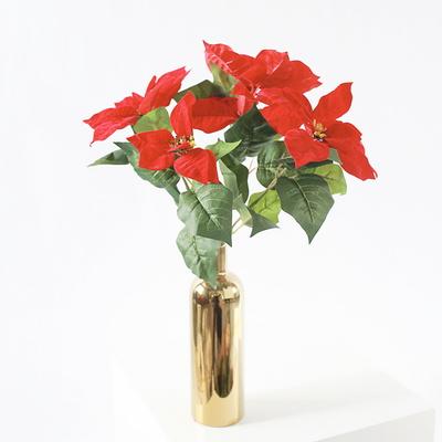포인세티아 조화 부쉬 대형 크리스마스 리스 꽃 장식