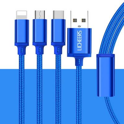 LICHEERS 3in1 멀티 USB 고속 충전 케이블 고급형