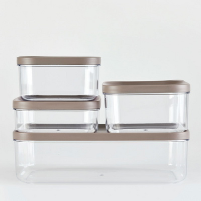 냉장고 소분 정리 수납 플라스틱 밀폐 용기 7호 (3P)