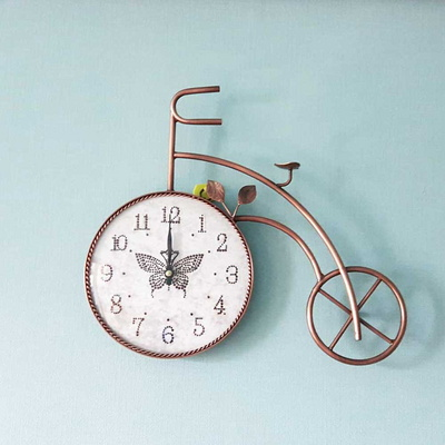 벽시계 이앤 자전거 인테리어벽시계 벽장식 저소음