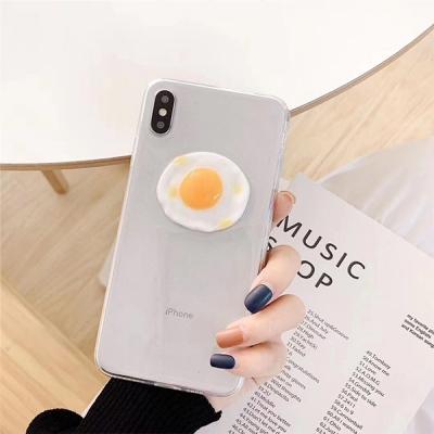 귀여운 계란후라이 피규어 아이폰 투명 젤리 케이스