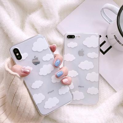 귀요미 미니 뿅뿅구름 투명 젤리 아이폰 케이스 XR XS