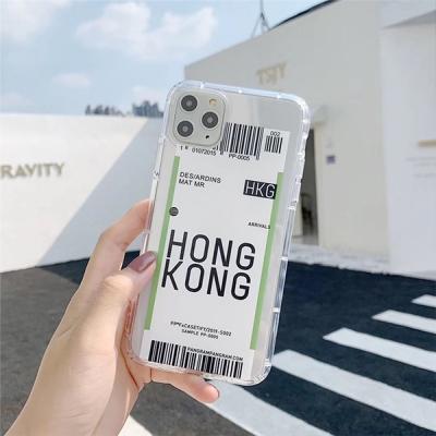 1+1 보딩패스 비행기티켓 아이폰11 투명 젤리 케이스