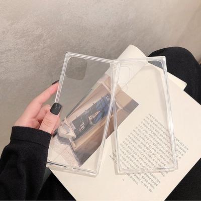 기본 컬러 스퀘어 투명 젤리 아이폰 케이스 SE2 PRO