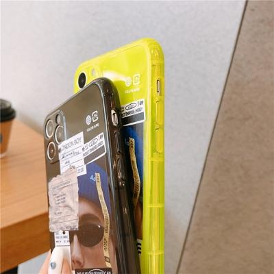 네온 형광 바코드 영수증 텍 아이폰 범퍼 케이스 SE2