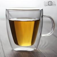 더블글라스 이중 유리컵 뚜껑450ml 475ml