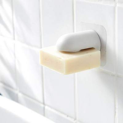 둥근머리 접착식 비누홀더 비누걸이 비누받침