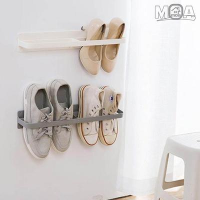 막대형 신발 거치대 2칸 실내화 정리 욕실화 걸이