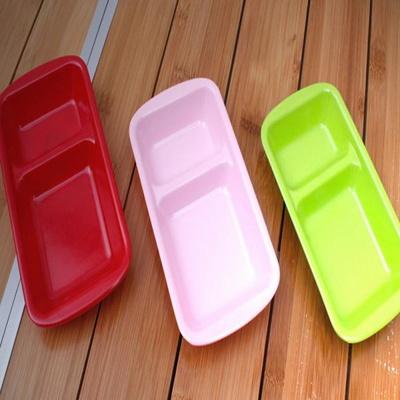 2칸 컬러 반찬식기 캠핑식기 캠핑용품 바베큐그릴