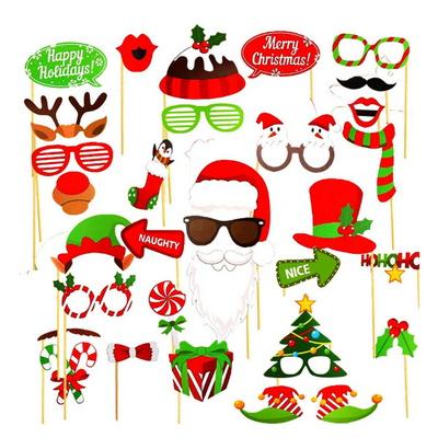 크리스마스 포토 프롭스 홈파티 소품 사진 토퍼
