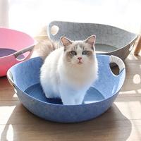 고양이 펠트 바스켓 방석포함 고양이용품