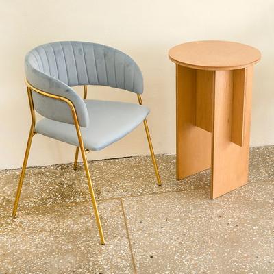 골드벨벳퀼팅체어 인테리어 식탁 카페의자