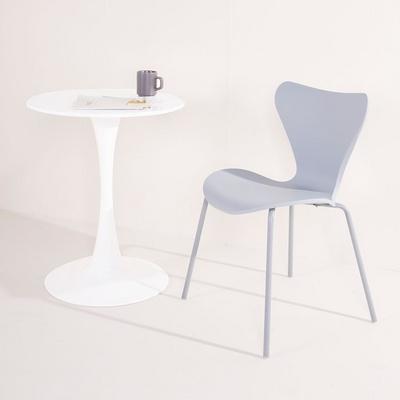 가구느낌 우주테이블 600 원형 카페 화이트 식탁
