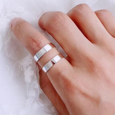 실버 두줄 너클링 레이어드 반지 925 순은 R09