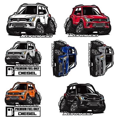 프리스타일 코란도C 300 차량용 캐릭터 스티커