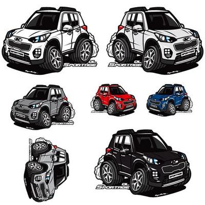 프리스타일 스포티지QL 차량용 캐릭터 스티커