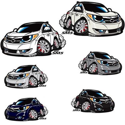프리스타일 뉴 SM5 차량용 캐릭터 스티커